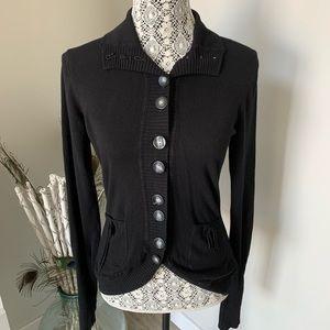 LOLË Long Sleeved Cardigan Black Size Small